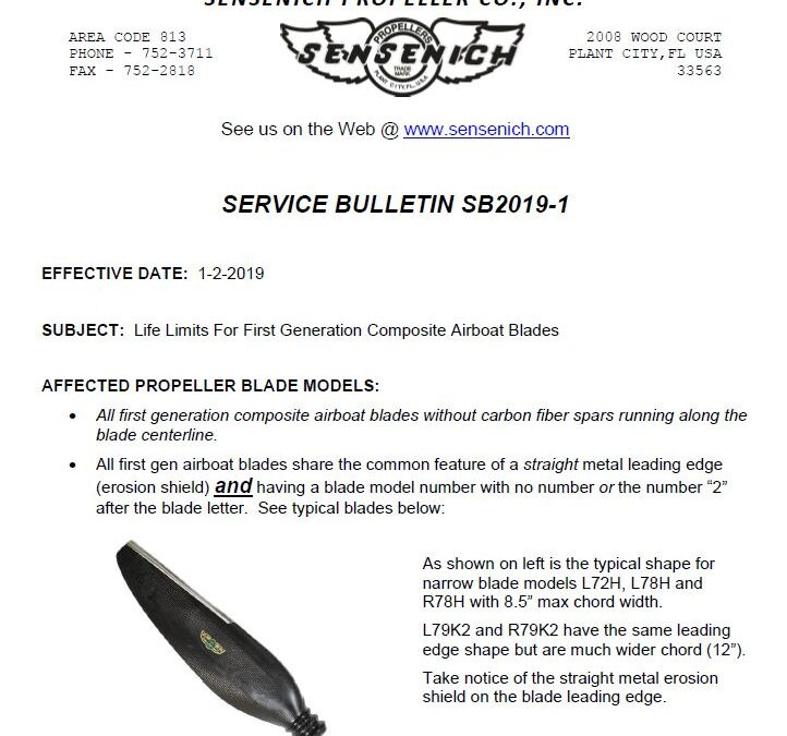 Service Alert for 1st generation airboat blades!
